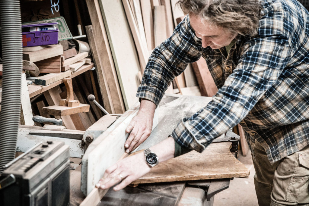master furniture maker Kristian King at work