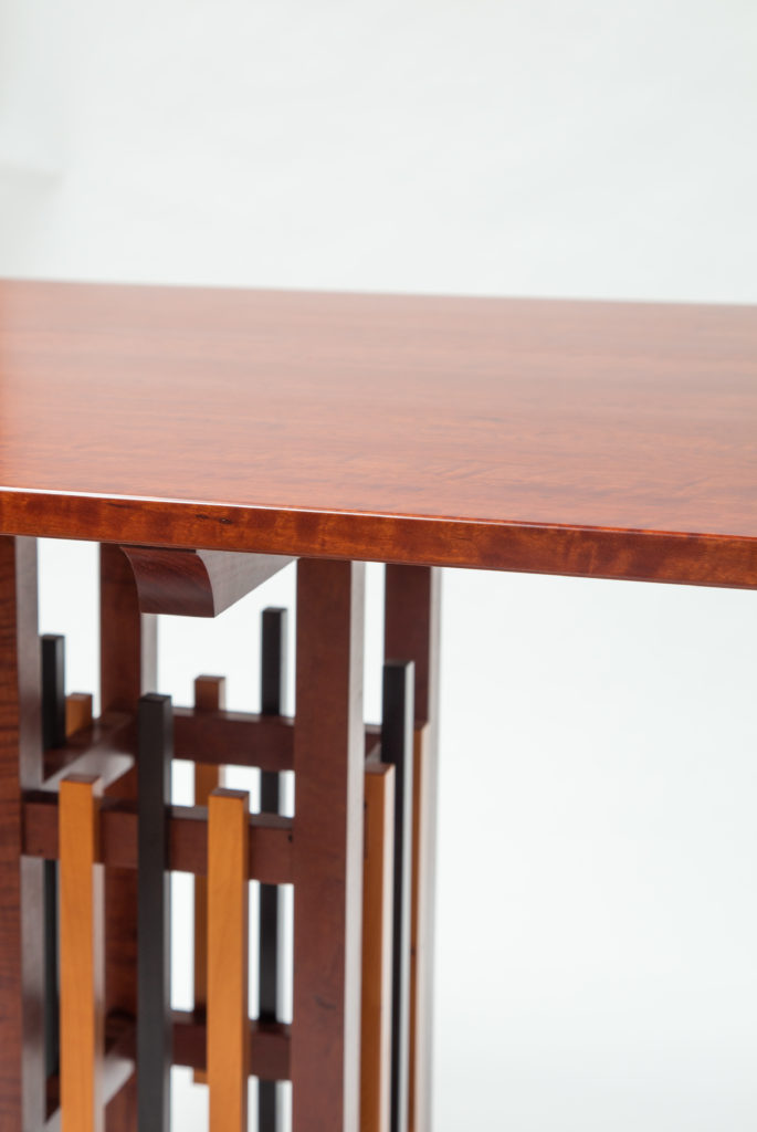 close up of degree table
