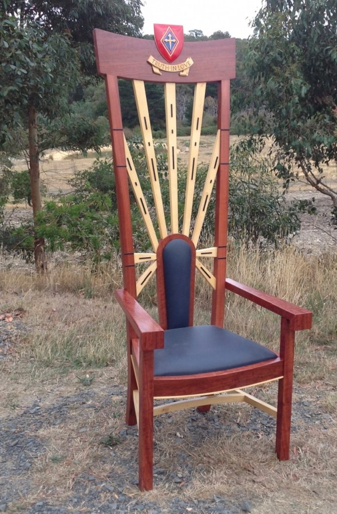 Australian Catholic University ceremonial throne chair