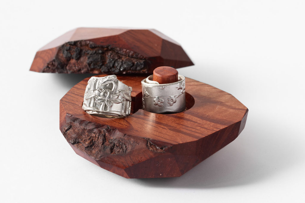 secret sharer ring box with Marian Hosking silver brooch