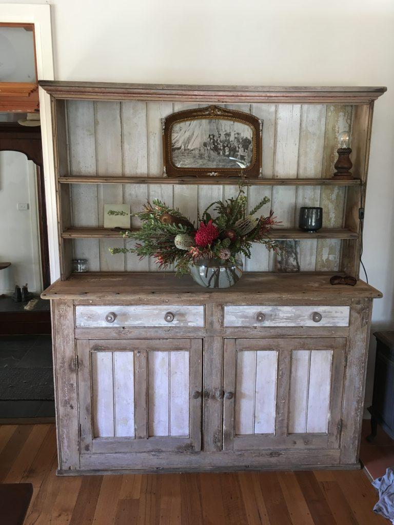 goldrush colonial side board dresser in white cedar