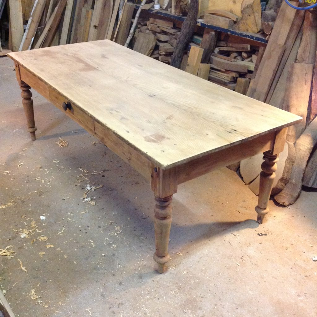 kauri one piece slab top - colonial Australian farm house table