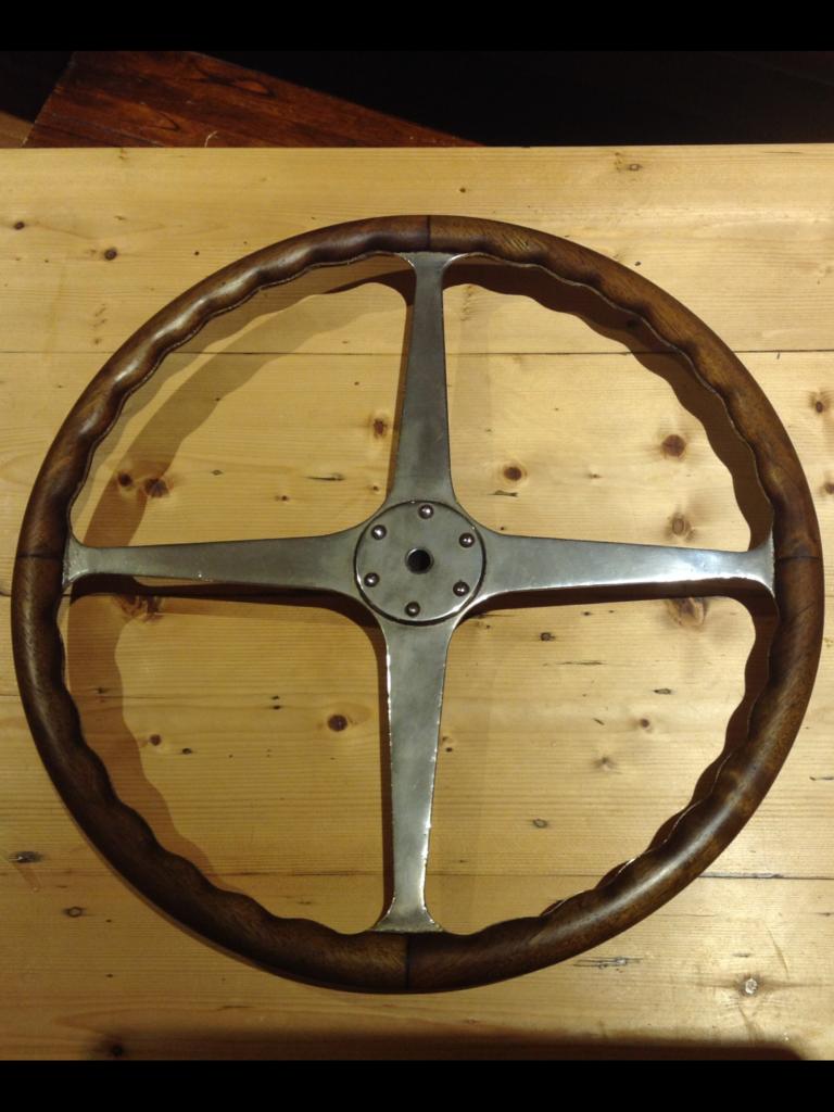 1925 type 35 grand prix Bugatti steering wheel restoration